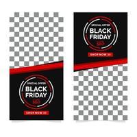 modèle de conception de bannière vendredi noir