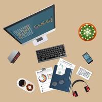 audit de fond de concept avec des objets de bureau