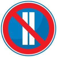 Parking interdit les jours pairs isolé sur fond blanc