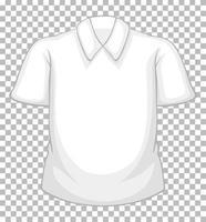 Chemise à manches courtes blanche vierge isolée sur fond transparent vecteur
