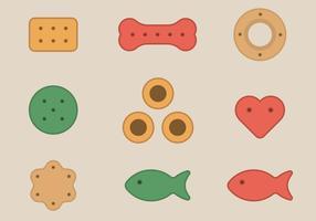 Collection de biscuits pour animaux de compagnie vecteur