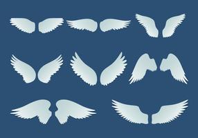 Collection d'ailes artificielles vecteur