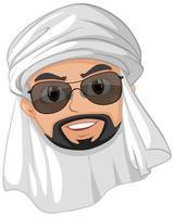 personnage de dessin animé homme arabe vecteur