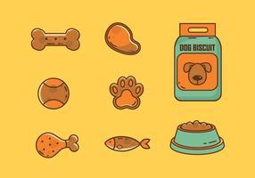 Collection de vaisselle pour chien et biscuit vecteur