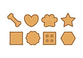 Icônes de biscuits pour chien vecteur