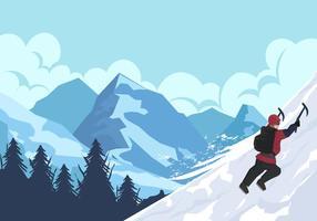 Les Montagnes Avec Alpinistes vecteur