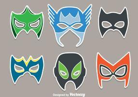 Vecteurs de masques super-héros vecteur