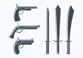 Collection d'armes à mousquetaires