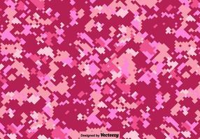 Vecteur rose fond de camouflage numérique