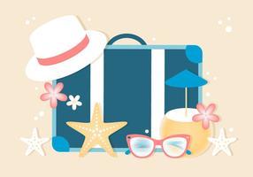 Fond de vacances d'été gratuit vecteur