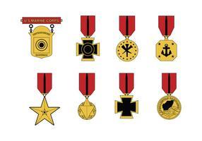 Médaille de l'USMC vecteur