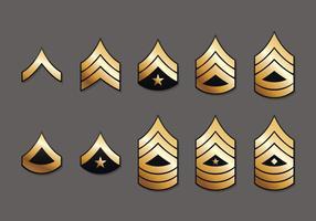 Insignes du Corps de marine des États-Unis vecteur