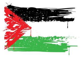 Drapeau de la Palestine vecteur