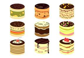 Vecteur libre de gâteau au tiramisu