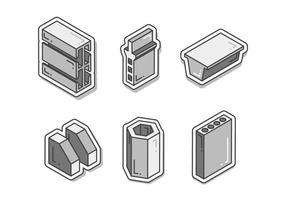 Vecteurs de faisceau de construction de poutre unique gratuits vecteur