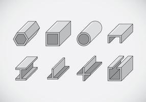 Icônes de poutre vecteur
