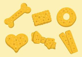 Icônes de vecteur de biscuit de chien