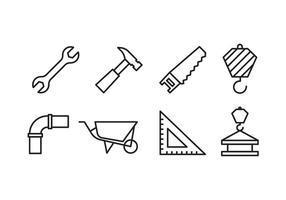 Pack d'icônes de construction vecteur