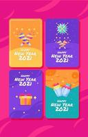 joyeuses cartes de nouvel an vecteur