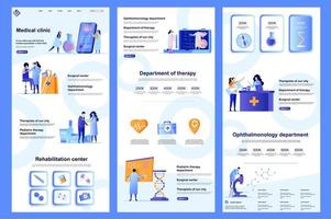 page de destination plate de la clinique médicale vecteur