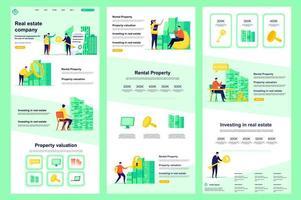 page de destination plate de société immobilière