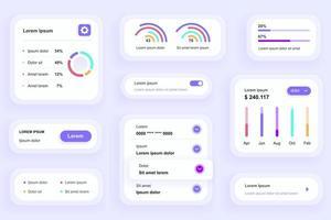 éléments d'interface graphique pour l'application mobile d'analyse commerciale