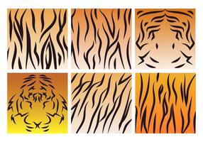Vecteur de motif de rayures de tigre