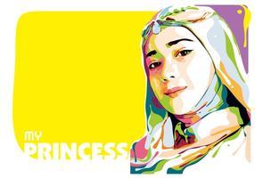 Ma princesse vector popart portrait
