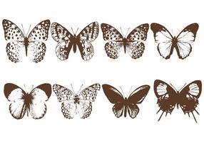 Vecteur de lithographie de papillon
