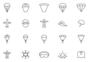 Vecteurs de parachutisme gratuit