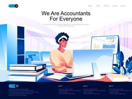 nous sommes des comptables pour tout le monde page de destination vecteur