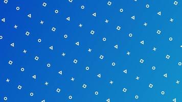 motif géométrique minimal sur bleu vecteur