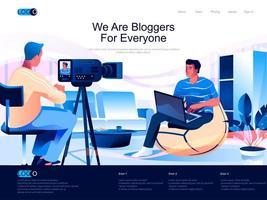 nous sommes des blogueurs pour tout le monde page de destination vecteur