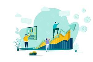 concept de gestion des ventes dans un style plat
