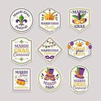 thème mardi gras stickers vecteur