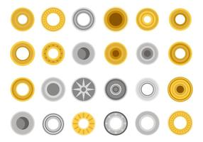 Vecteur d'icônes d'accessoires métalliques gratuits
