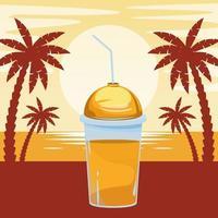 boisson smoothie aux fruits tropicaux vecteur
