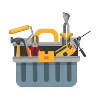 ensemble d'outils et icône de dessin animé de matériel