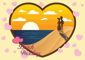 Fond de vecteur mariage de plage