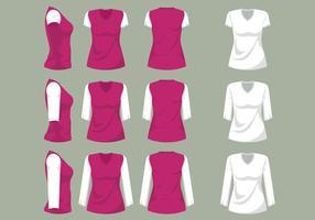 Modèle de chemise Femme V Neck vecteur