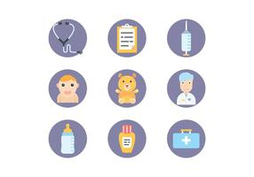Icônes de pédiatrie vecteur