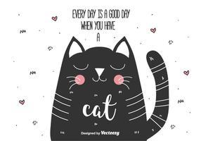 Fond de vecteur chat