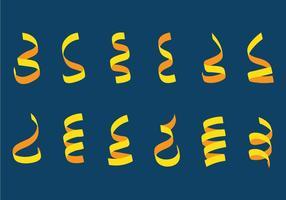 Serpentine jaune vecteur