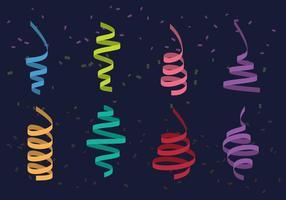 Serpentine colorée vecteur