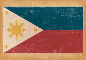 Drapeau grunge des Philippines