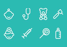 Vecteur icône pédiatre