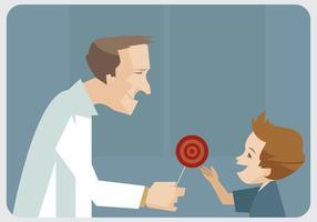 Vecteur pédiatre et enfant