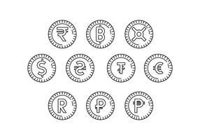 Symbole de monnaie de monnaie libre Icon Vector