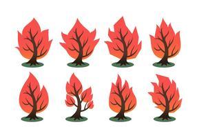 Collection de vecteur Free Burning Bush