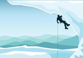 Grimpeur alpin vecteur